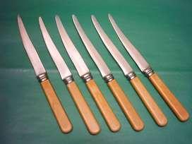 Cuchillos Antiguos Ingleses Cabo De Marfilina
