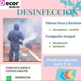 Desinfeccion de autos casas y oficinas
