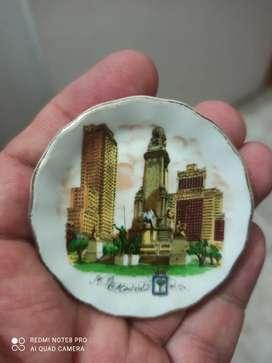 Porcelana Española Antigua Pintada a Mano Espectacular Única