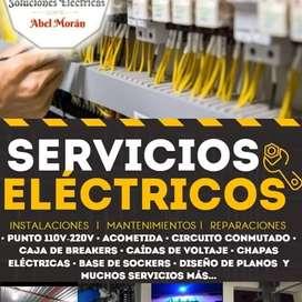 ELECTRICISTA MAESTRO TEC. REALIZO TODO TIPO DE PROYECTOS ELÉCTRICOS CON CALIDAD Y SERVICIO GARANTIZADO