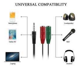 Adaptador Jack 3.5 Mm Triestereo Microfono Y Auricular