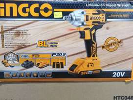 """LLAVE DE IMPACTO 2 BATERIAS 1 CARGADOR E20 1/2"""" INGCO"""