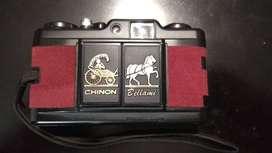 Cámara Chinon Bellami + Flash Auto S-120 35mm año 80