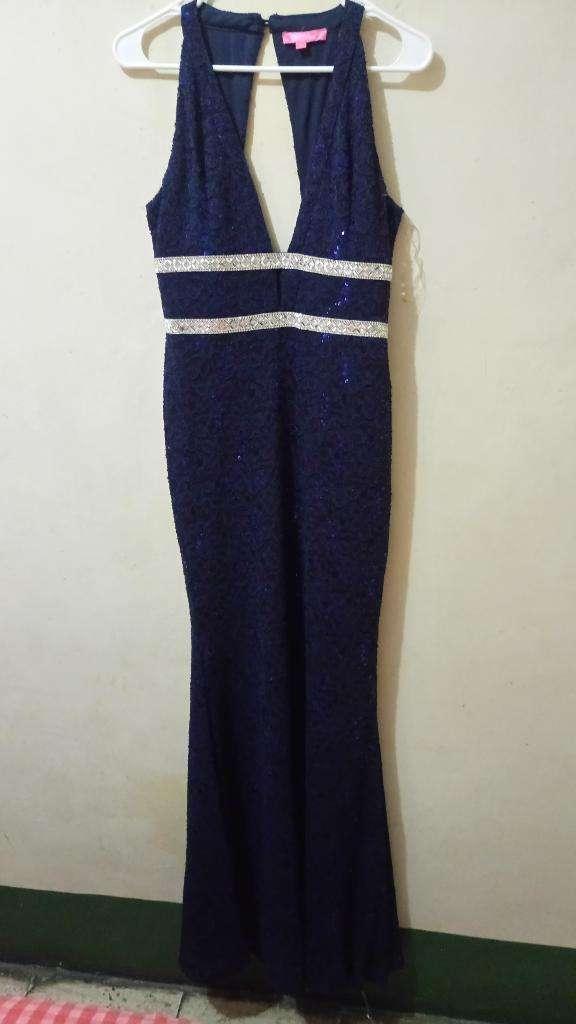 Vestido Azul Talla L 0