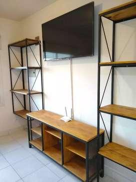 Muebles estilo industrial a medida.