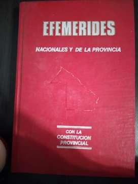Efemérides nacionales y de la provincia