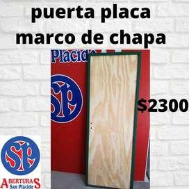 puerta placa economica