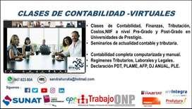 Clases de Contabilidad, Finanzas, Costos,Tributación,laboral y NIIF