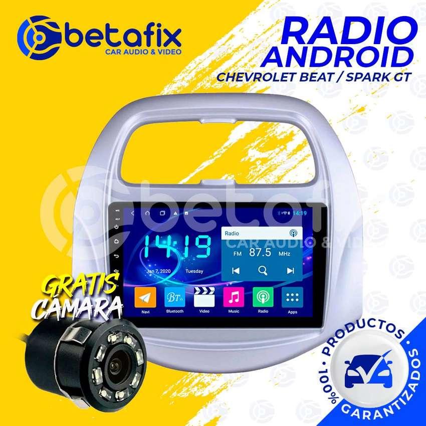 RADIO ANDROID PARA CHEVROLET BEAT SPARK GT / GPS BT USB WIFI BETAFIX DESDE 0