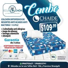 ** COLCHONES CHAIDE EN PROMOCION ** COLCHON + ALMOHADAS ANTI-ALERGICAS + JUEGO DE SABANAS + ENTREGA A DOMICILLIO