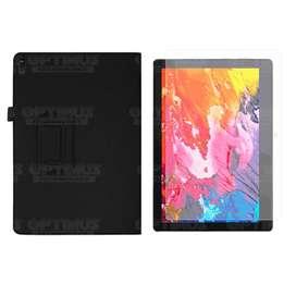 Combo Kit Vidrio Cristal Screen Protector y Estuche Forro Case de cuero sintético para Tablet Lenovo x304f F10