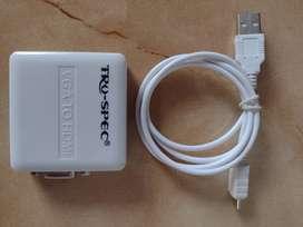 Adaptador de VGA a HDMI.