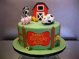 Torta Farm Granja + cupcakes gratis