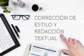 Corrección de estilo y redacción textual