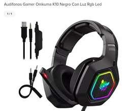 Audífono Gamer Onikuma K10 Con Luz Led