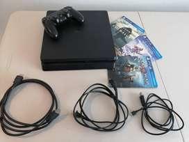 Play Station 4 Slim 1 Tb + 1 Control + 3 Juegos