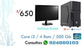 Core i3 / 4 Ram / 500 HDD / Antivitus Gratis