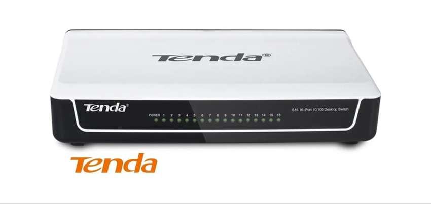 Switch De 16 Puertos De 10/100 Mbps Tenda S16