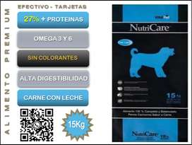 NutriCare Perros Cachorros 15 Kg.