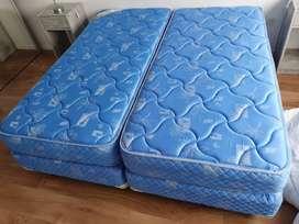 Vendo 4 camas con somier de 90cm x 2metros  NUEVAS cada una $22000