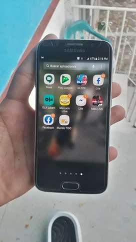 Celular Samsung galaxy s6 con su huella funcional  nítido de todo