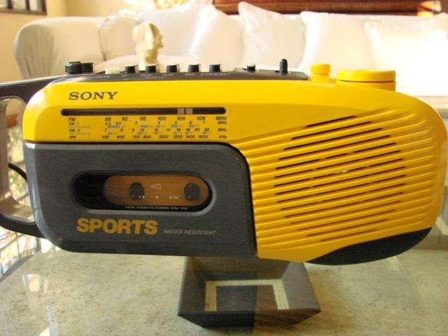 Antiguo Sony Radiograbador Cassette Portatil Clasico Vintage 0