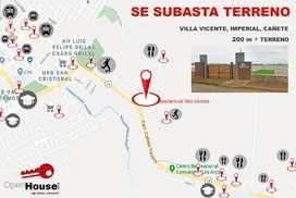 ¡Precio de Locura! 200m2 de Terreno en Exclusiva Urb Villa Vicente - Cañete