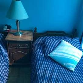 2 camas de algarrobo  de 90 cm de ancho