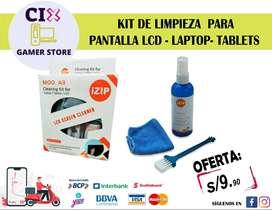 KIT DE LIMPIEZA PARA PANTALLA LCD LAPTOP Y TABLETS