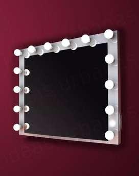 Espejo Maquillaje Hollywood Portalamparas Internos  14 Led