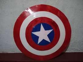 Escudo Capitán América 100% metal. Bajo Pedido
