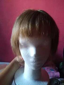 Vendo peluca pelo natural se puede teñir corta