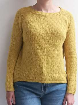 Sacón tejido amarillo mostaza