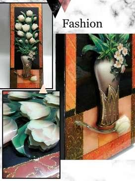 cuadro decorativo,alto relieve,resinado