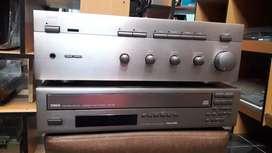 Combo yamaha Amplificador integrado y cdplayer