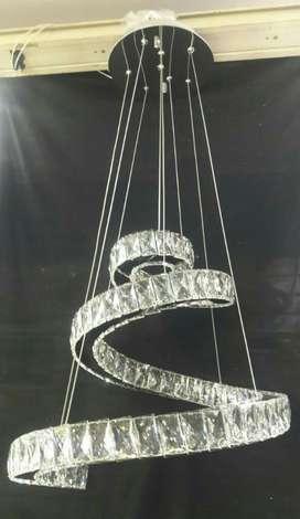 Lampara Cristal de Murano 3 Tonos de luz control remoto garantia 12 ms