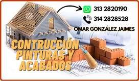Construcción, pinturas y acabados
