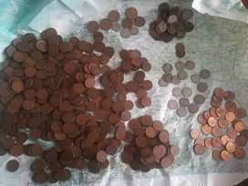 Mas de 500 monedas antiguas de V centavos Colombia