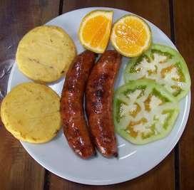 Deliciosos Chorizos santarrosanos ahumados