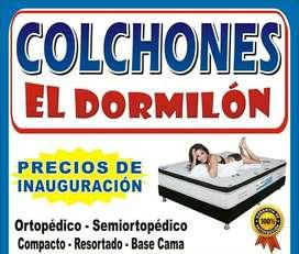 Promocion  de  juego de colchon ortopedico mas base cama