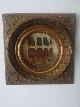 Antiguo cuadro al oleo frances