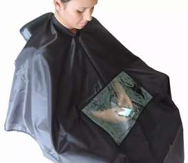 Capa para peluquería con visor para celular