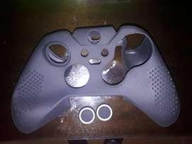 Funda protectora de silicona antideslizante Taifond para el controlador Microsoft Xbox One Elite con dos tapas de agarre