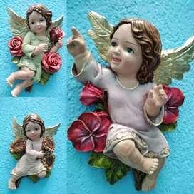 Juego de angeles en yeso