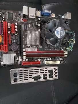 COMBO DDR3 SOCKET 775 PROCESADOR DOBLE NUCLEO MEMORIA RAM 2GB