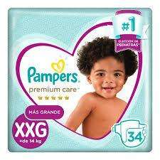 Pañales pampers premium care XXG