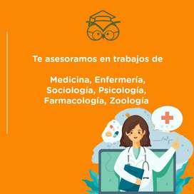 trabajos y asesores en quimica organica, medicina, farmacologia, psicologia, sociologia, zoologia.