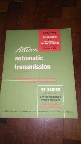 Allison automatic transmission . MT series . caja automática Camiones y tractores 1970 en inglés