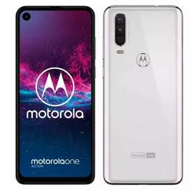 Se vende Motorola ONE ACTION blanco luminoso