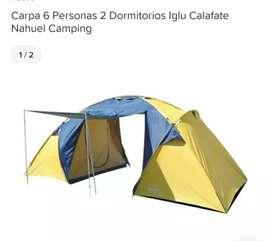 Carpa 6 personas 2 dormitorios Iglú Calafate Nahuel